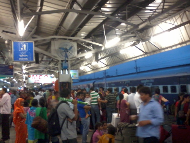 At a busiest Railway Station of Northern India - 'Jammu'