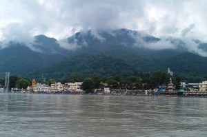 River Ganges and Clouds at Rishikesh