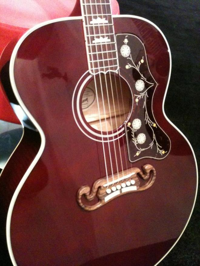 a beautiful guitar model..