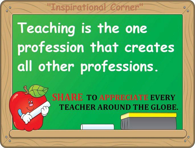 wonderful quote on teaching profession shared by my student ...