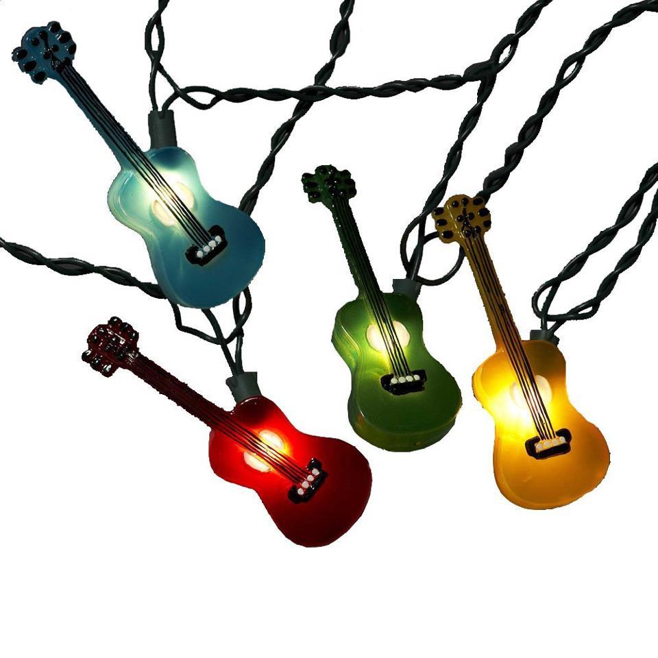 multi colored guitar lights kapil srivastava. Black Bedroom Furniture Sets. Home Design Ideas