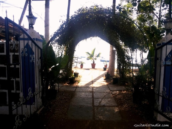 Entrance at Dolphin Beach Goa
