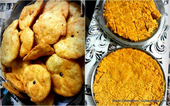 Diwali Food Mathi & Besan Ki Barfi