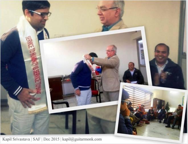 Kapil Chairman to SAF NGO